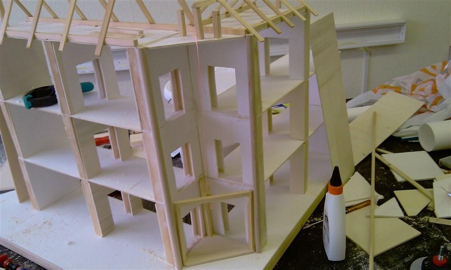 puppenhaus bauanleitung aus original materialien detaliertein vektor pixelschubser stellt. Black Bedroom Furniture Sets. Home Design Ideas