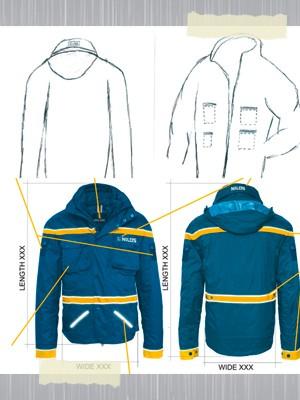 Design einer Arbeitsjacke