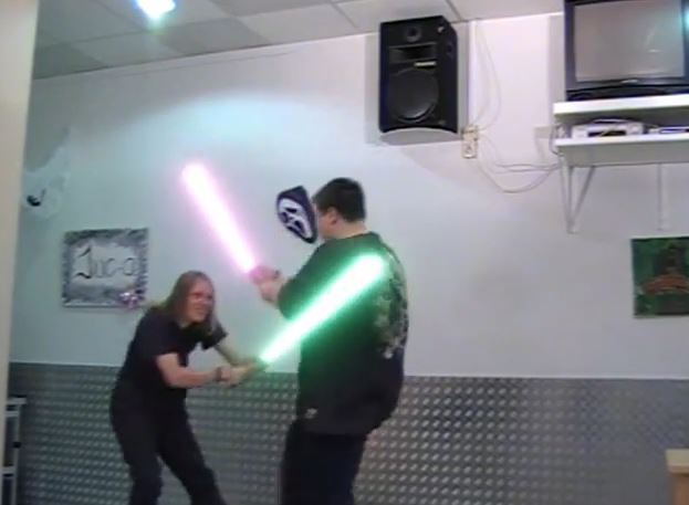 "Projektvideo Jugendsozialarbeit: ""Laserschwert Kampf"""