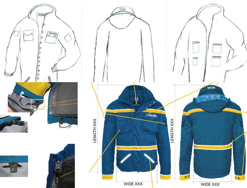Arbeitskleidung / Werbemittel