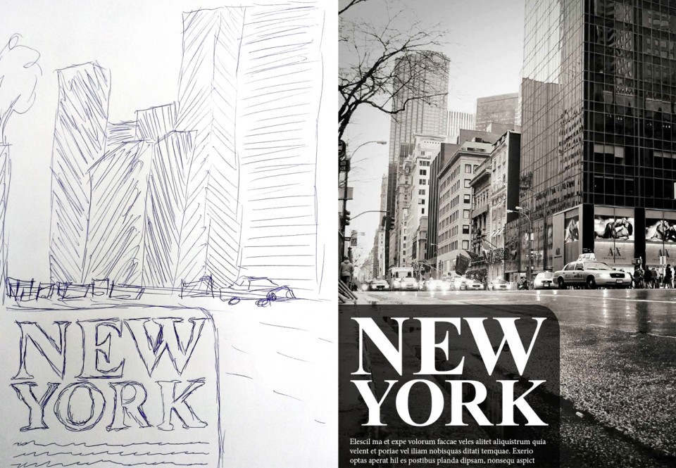 Scribble New York – Scribble und Umsetzung