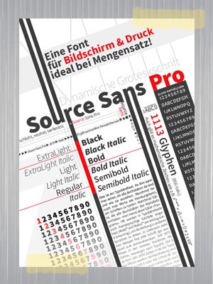 Typografie – Font Poster – Source Sans Pro